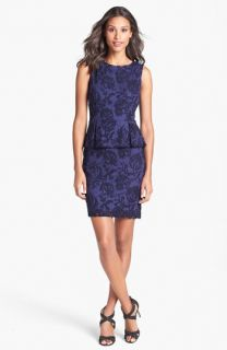 Adrianna Papell Lace Peplum Sheath Dress