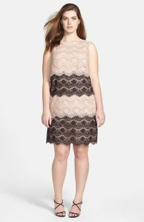 Jessica Simpson Tiered Lace Dress (Plus Size)