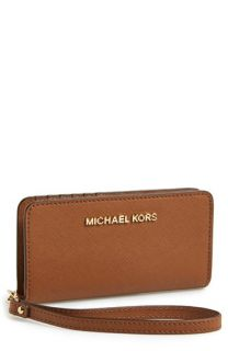 MICHAEL Michael Kors Saffiano Leather Tech Wristlet