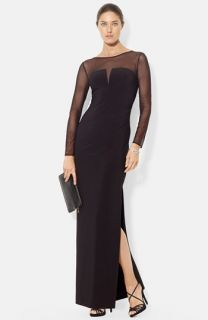 Lauren Ralph Lauren Illusion Yoke Jersey Gown (Regular & Petite)