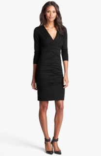 Nicole Miller Tuck Detail Jersey Dress