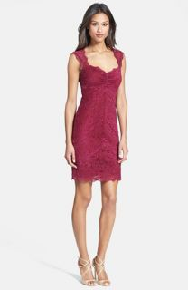 Nicole Miller Open Back Stretch Lace Dress