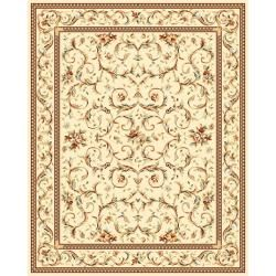 Lyndhurst Collection Traditional Ivory/ Ivory Rug (9' x 12') Safavieh 7x9   10x14 Rugs