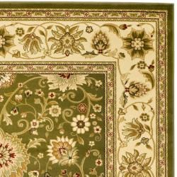 Lyndhurst Collection Majestic Sage/ Ivory Rug (9' x 12') Safavieh 7x9   10x14 Rugs