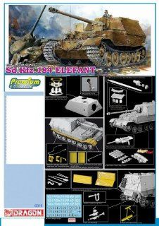 1/35 Elefant, Sd. Kfz 184   Premium Edition Kit Model anti tank Ferdinand Mr. Ferdinand Porsche German Nazi Tank armored military vehicle WWII World War 2 two II Toys & Games