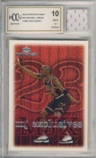 1999/00 Upper Deck MVP #191 Michael Jordan with Piece of Authentic Michael Jordan Chicago Bulls Game Used Jersey Graded BGS BECKETT 10 MINT GGUM Card  Sports Related Trading Cards  Sports & Outdoors