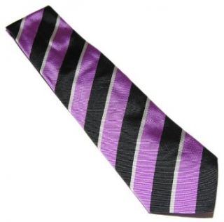 Polo Ralph Lauren Purple Label Mens Black Stripe Silk Tie Italy Hand Made $185 at  Men�s Clothing store