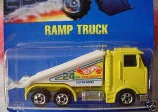 Mattel Hot Wheels 1991 164 Scale Yellow Ramp Truck Die Cast Car Collector #187 Toys & Games