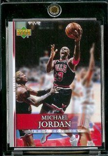 2007 08 Upper Deck First Edition # 191 Michael Jordan   NBA Basketball Trading Card in a Protective Display Case Sports Collectibles