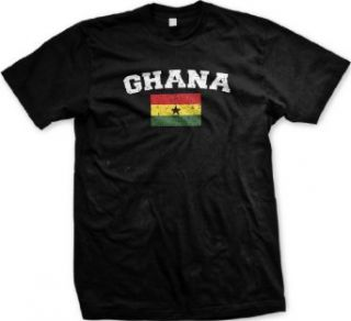 Ghana Flag International Soccer T shirt, Ghanaian Soccer Mens T shirt Clothing