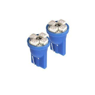 194 Type SMDx4 Blue LED Light Bulbs (2pcs) Automotive