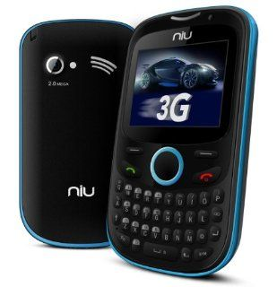 NIU Pana 3G TV N206 Unlocked GSM Phone with Dual SIM, QWERTY Keyboard, 2MP Camera, Video and microSD Slot   Blue Cell Phones & Accessories