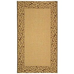 Indoor/ Outdoor Natural/ Brown Rug (7'10 x 11') Safavieh 7x9   10x14 Rugs