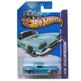 2013 Hot Wheels (207/250) '62 Corvette 164 Scale Secret Super Treasure Hunt with Real Rider/rubber Tires Toys & Games