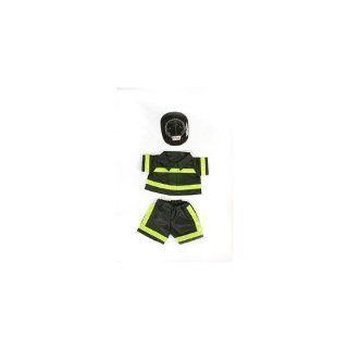 "Fireman Outfit Teddy Bear Clothes Fit 14""   18"" Build a bear, Vermont Teddy Bears, and Make Your Own Stuffed Animals Toys & Games"