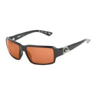 Costa Del Mar Sunglasses   Peninsula  Glass / Frame Black Matte Lens Polarized Copper Wave 580 Glass Clothing