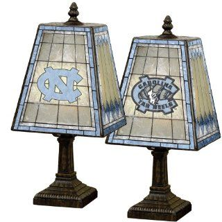"North Carolina 14"" Art Glass Table Lamp  Unc Lamp  Sports & Outdoors"
