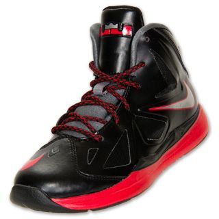 Boys' Preschool Nike LeBron X Basketball Shoes  Black/Chrome/Red