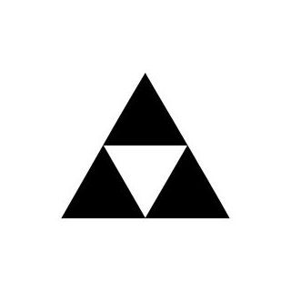 "ZELDA TRIFORCE   3 TRIANGLES   5"" WHITE   Vinyl Decal Vinyl Sticker   Car Wall Laptop Sticker Automotive"