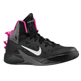 Nike Zoom Hyperfuse 2013   Mens   Basketball   Shoes   Black/Dark Grey/Pink Foil/Metallic Silver