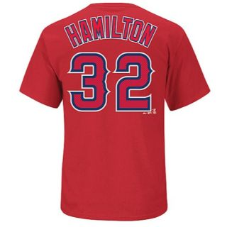 Majestic MLB Hi Definition Name & Number Tee   Mens   Baseball   Clothing   Los Angeles Angels   Hamilton, Josh   Red