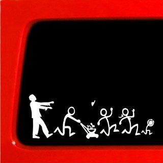 Zombie Stick Figure Family Nobody Cares truck funny stickers car decal blank Automotive
