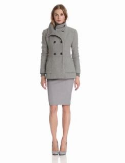 Jessica Simpson Women's Short Double Breasted Coat