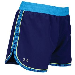 Under Armour Heatgear 3 Stretch Woven Shorts   Womens   Running   Clothing   Fire/Shine