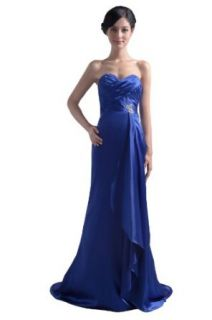 Dresstells Sweetheart Brush Satin Long Evening Gown Formal Beach Wedding Party Dress Clothing