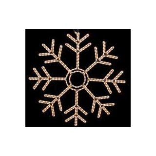 "Novelty Lights, Inc. SNOWFLAKE  242 Christmas Rope Light Snowflake, Double Layered Frosted White, 24"" X 24"", Heavy Duty Metal Frame   String Lights"