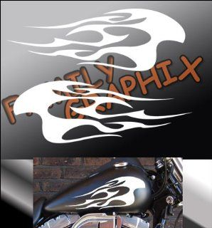 "Motorcycle Flames Gas Tank Flame Decals Harley 13""x5.5"" Flm244"