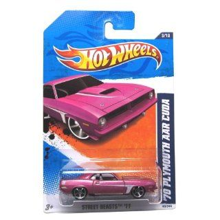 2011 Hot Wheels '70 Plymouth AAR Cuda Pink #83/244 Toys & Games