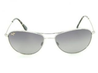 New Maui Jim Baby Beach GS245 17 Silver/Neutral Grey Polarized 56mm Sunglasses Clothing