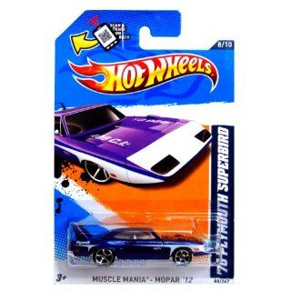 Hot Wheels   '70 Plymouth Superbird (Purple w/White Stripes)   Muscle Mania, Mopar 12   8/10 ~ 88/247 [Scale 164] Toys & Games