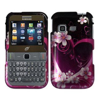 iFase Brand Samsung S390G Cell Phone Purple Love Protective Case Faceplate Cover Cell Phones & Accessories