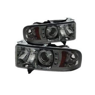 2004 2005 2006 2007 2008 Ford F150 Version 2 CCFL Halo LED (Replaceable LEDs) Projector Headlights   Smoke Automotive