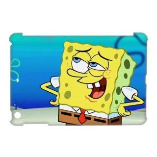 DIY Cover Lovely Cartoon Hard Cover Case SpongeBob for iPad Mini DIY Cover 3559 Cell Phones & Accessories