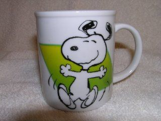 "Peanuts Snoopy Dancing ""To Live is to Dance"" Ceramic Coffee Mug Kitchen & Dining"