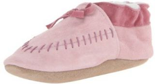 Robeez Cozy Moccasin PK Crib Shoe (Infant/Toddler),Pink,18 24 Months M US Infant Shoes