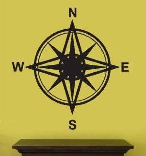 Vinyl Wall Art Decal Sticker Magnetic Compass Instrument Design #263   Automotive Decals