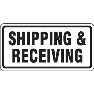 "Accuform Signs FRR266RA Engineer Grade Reflective Aluminum Facility Traffic Sign, Legend ""SHIPPING & RECEIVING"", 24"" Width x 12"" Length x 0.080"" Thickness, Black on White"