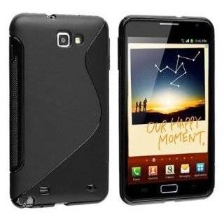 Black S Line Soft TPU Gel Case Cover For Samsung Galaxy Note / i9220 GT N7000 Cell Phones & Accessories