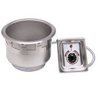 APW Wyott SM 50 7 UL 7 Qt. Round Drop In Soup Well with UL Electrical Kit Kitchen & Dining