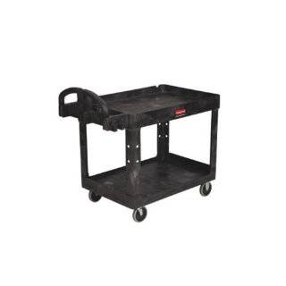 Rubbermaid Commercial Extra Large 2 Shelf Heavy Duty Utility Cart