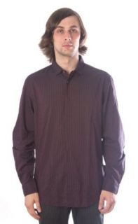 John Varvatos Mens Casual Shirt Burgundy W272K3 31AA at  Men�s Clothing store
