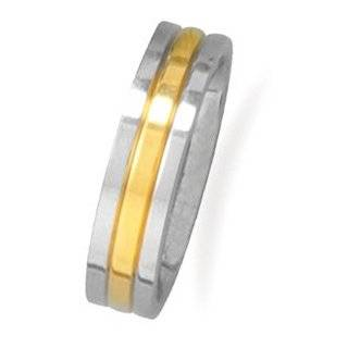 Stainless Steel and 14 Karat Gold Plated Men's Ring West Coast Jewelry Jewelry