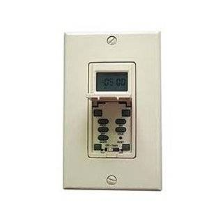 NSI Industries SS721ZA Sunset/Sunrise, Astronomic 7 Day In Wall Timer, 120/277 VAC, SPST Switch Type, Light Almond