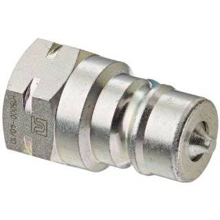 "Eaton Hansen HA1502200 ISO A Zinc Plated Steel Hydraulic Fitting, Plug, 3/8"" 19 BSPP Female, 3/8"" Body Quick Connect Hose Fittings"