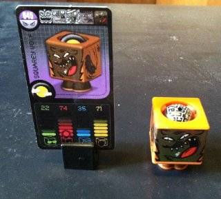 "CRAZY CUBES   SQUAREY WOLF FIGURE & CARD #45 ""MONSTER CUBES"" Toys & Games"