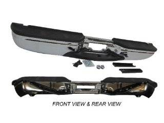 99 07 FORD SUPER DUTY F250 F350 REAR STEP BUMPER CHROME ASSY WITH BRACKETS, PADS Automotive